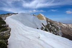 La cresta di Sud Est coperta di neve. 8 Aprile 2014